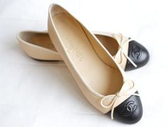 chanel flat shoes. chanel flats- classic, timeless. undeniably the most favorite thing in my closet. flat shoes t