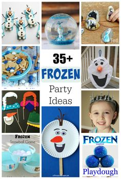 What sounds more fun than a themed Frozen birthday party? We've gathered up Frozen birthday party ideas to help you plan the BEST birthday party ever! Olaf Party, Frozen Themed Birthday Party, Disney Frozen Birthday, 4th Birthday Parties, Birthday Fun, Frozen Party Games, Birthday Ideas, Funny Party Games, Festa Party