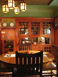 Super Craftsman Lighting Fixtures Dining Room Built Ins Ideas Craftsman Dining Room, Craftsman Decor, Craftsman Furniture, Craftsman Interior, Craftsman Style Homes, Craftsman Bungalows, Craftsman Kitchen, Craftsman Houses, Craftsman Cottage