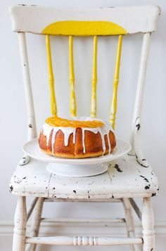 Meyer Lemon Bundt Cake with Candied Lemons