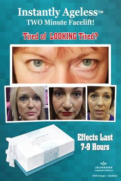 See the difference Instantly Ageless makes in just 2 to 3 minutes, it is truly amazing.
