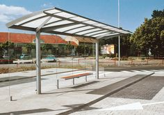 regio Bus stop shelter & designer furniture Wood Pergola, Pergola Canopy, Urban Furniture, Street Furniture, City Architecture, Amazing Architecture, Bus Stop Design, Canopy Shelter, Bus Shelters