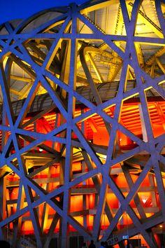 """El Estadio Nacional de Beijing, China, también conocido como el """"Nido de Pájaro"""". Diseñado por Herzog & de Meuron"""