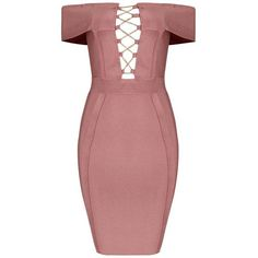 Honey couture elisha pink off shoulder mini bandage dress (610 PEN) ❤ liked on Polyvore featuring dresses, red off the shoulder dress, sexy bandage dresses, off-the-shoulder dress, pink dress and red dress