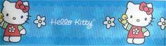 Hello Kitty Satijn Lint 90 CM