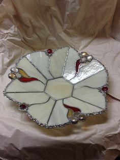 Stained glass trinket dish?