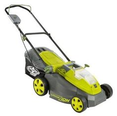 Sun Joe iON Cordless 16 in. Lawn Mower with Brushless Motor - The Sun Joe iON Cordless 16 in. Lawn Mower with Brushless Motor lets you take your lawn back with quiet convenience. This mower features a powerful. Lawn Mower Battery, Push Lawn Mower, Cordless Lawn Mower, Mowers For Sale, Walk Behind, Yard Care, The Life, Battery Operated