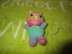 Kitty with the large mouth Yoshi, Tweety, Dinosaur Stuffed Animal, Kitty, Toys, Handmade, Character, Animals, Art