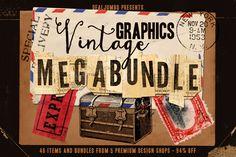 For the next two weeks you can get $400+ worth of high quality, vintage designs for $29: http://dealjumbo.com/5in1-mega-bundle-v-15-vintage-graphics/