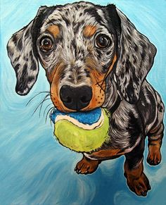 Custom Pet Portrait 8x10inch Dog Painting Acrylic Original Painting Gift Art Dog Portrait