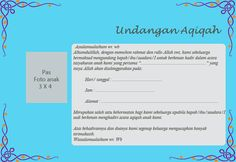 Contoh kartu undangan aqiqahan