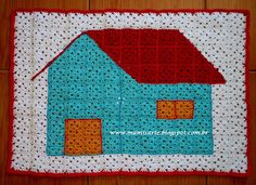 """Crochet et Tricot da Mamis: Tapete """"Casinha"""" em Crochet- Receita (Repostagem)"""