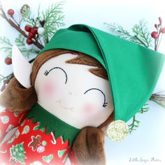 Christmas elves by Little Sugar Plums. Elf on the Shelf, handmade, doll, heirloom, Dress Up Dolls, Christmas Elf, Elves, Elf On The Shelf, Winter Hats, Sugar, Pretty, Handmade, Design
