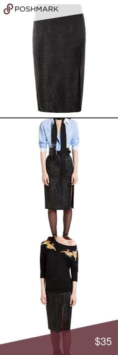 "Altuzarra skirt Like new black midi skirt. Length 23.5"" Golden zipper in the back, has a lining and a slit. Beautiful fabric. Never worn. Altuzarra Skirts Midi"