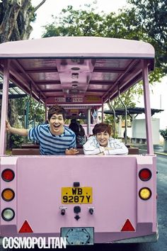 Super Junior's Leeteuk and SHINee's Onew, both leaders and eldest members of their respective groups, went to Singapore for a pictorial. In Cosmopolitan's February issue the duo shows off their casual yet stylish vacation styles. Leeteuk wears a black and white striped jacket, looking sharp and clea...