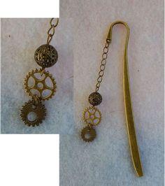 Gold Steampunk Gear Charm Hair Stick New Shawl Pin Accessories Fashion  #Handmade #HairStick http://www.ebay.com/itm/151663372061?ssPageName=STRK:MESELX:IT&_trksid=p3984.m1555.l2649