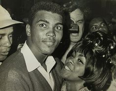 Ali with his first wife Sonji Roi following his fight with Sonny Liston at the Central