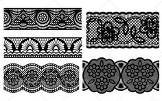 Lace. Decorative seamless patterns — Vector EPS #swirl #set • Available here → https://graphicriver.net/item/lace-decorative-seamless-patterns/2604996?ref=pxcr