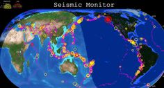 very cool map of earthquakes around the world.