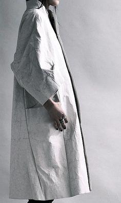 creased coat: white minimal design inspiration  Fashion + Photography 