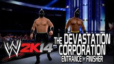 WWE 2K14 - Devastation Corporation Entrance + Finisher