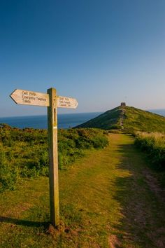 The path to Rame Head Chapel, Cornwall, England, built in the early 1300's