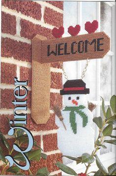 Seasonal Welcome Plastic Canvas Pattern by KnitKnacksCreations