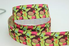 New 7/8'' Free shipping monkey printed grosgrain ribbon hairbow diy party decoration wholesale OEM 22mm P655-in Ribbons from Apparel  Accessories on Aliexpress.com $19.00