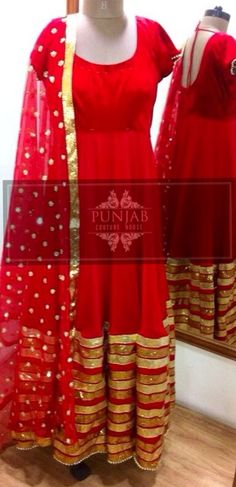 Red and Gold!   Email us to get more info @ punjabcouturehouse@gmail.com