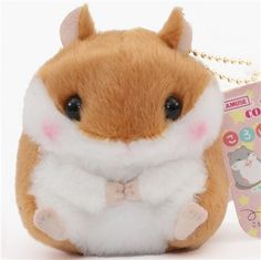 cute brown white hamster plush toy from Japan 1