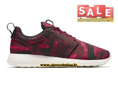 """NIKE ROSHE ONE PRINT """"RED CAMO"""" 2016 - CHAUSSURE DE NIKE SPORTSWEAR PAS CHER POUR HOMME Rouge Grenadine/Rouge sportif/Rouge équipe/Noir 655206-606"""