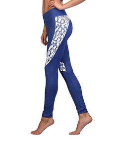 Look what I found on #zulily! Blue Abstract-Accent Leggings #zulilyfinds