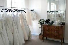 Our #curvybrides suite on the top floor of the store. Gorgeous dresses available in sizes 18-36.