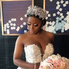 wedding hairstyles princess Stunning Tiffany looking like a modern day princess at her royal wedding! Custom designed crystal crown, jewelry and veils by Bridal Styles Boutique, bridal gown by YSA Makino. Headpiece Wedding, Bridal Headpieces, Wedding Bride, Princess Wedding, Wedding Dress, Wedding Looks, Bridal Looks, Bridal Style, Black Wedding Hairstyles