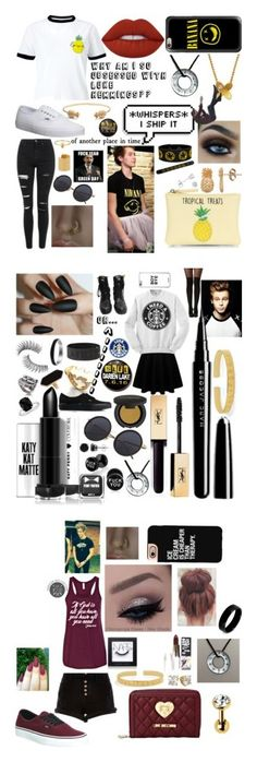 """Why is Luke sooooo Perfect??"" by troylerwillrise on Polyvore featuring New Look, Topshop, Miss Selfridge, Vans, Lime Crime, Lee Renee, Pineapple Seed, Amanda Rose Collection, Maya Magal and Casetify"
