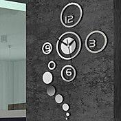 "40""H Creative Mirror Acrylic Wall Clock – USD $ 24.99"