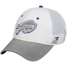 9bbb228c8b9 Men s Buffalo Bills Pro Line White Heathered Gray White Out Unstructured  Trucker Adjustable Snapback Hat