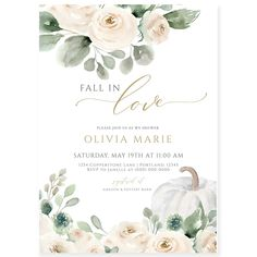 Fall Bridal Shower Invitation | Forever Your Prints