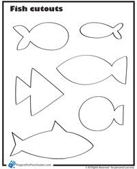 "Have the kids color the fish.  I can laminate them and add paperclips.  Then we can play ""fishing""."