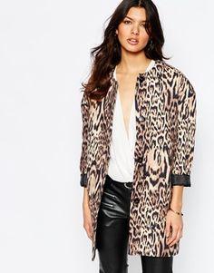 Mango Leopard Print Over Coat