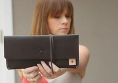 Love this leather clutch by @standard_goods