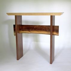 live edge furniture statement hall table with live edge stretcher for your narrow console