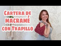Macramé wallet with plastic handles step by step in Spanish - macrame - Macrame Purse, Macrame Knots, Fun Crafts, Diy And Crafts, Net Bag, Crochet Handbags, Youtube, Purses And Bags, Knitting