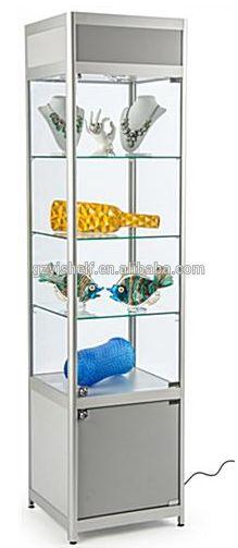 KLINGSBO Glass-door cabinet, black, clear glass | Glass ...