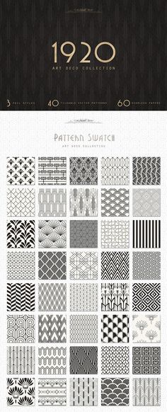 The Creative Designer's Colossal Treasure Chest - The Paper Town's Art Deco Seamless Patterns