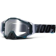 100% Racecraft MX Goggle Gunmetal   White Carbon Clear Lens Adult 50100-025- 68fec65315