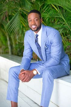 Dwyane Wade for The Tie Bar Stars in Stripes Necktie $25 Shop the item here: http://www.thetiebar.com/product/35964