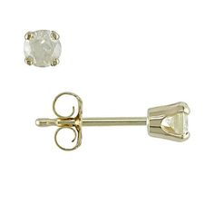 Miadora 1/4 ct Diamond Solitaire Earrings in 10 K Yellow Gold available from Walmart Canada. Find Jewellery & Watches online at everyday low prices at Walmart.ca