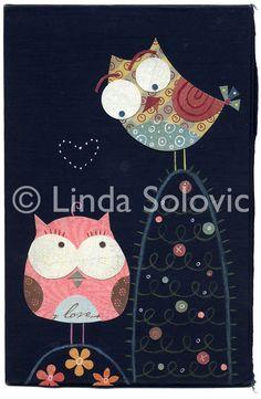 Lenny y Lucy amor a primera vista la impresión de por lindasolovic, $20.00