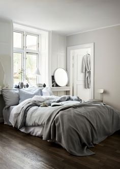 Sovrum i gråa toner